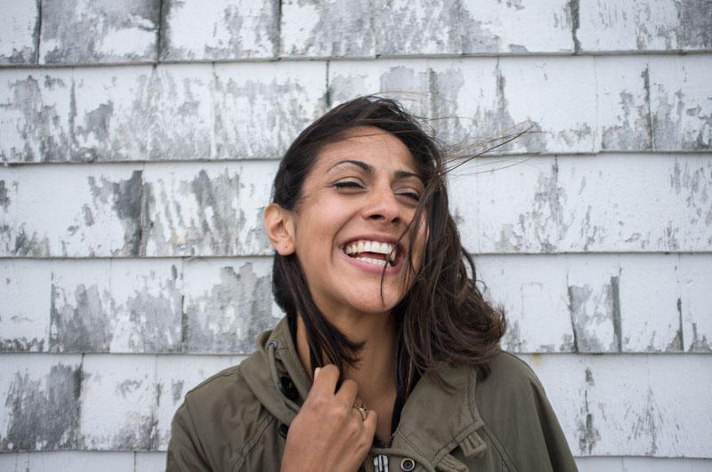 lachenendes Mädchen