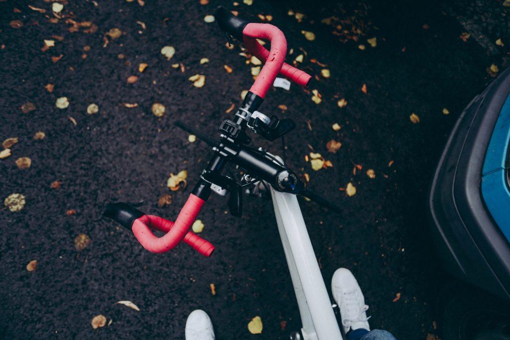 Ein Fahrrad Lenker
