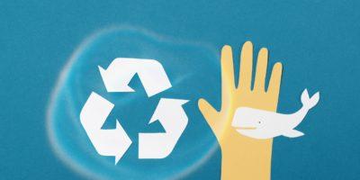 Recycling-Zeichen, Hand und Wahl